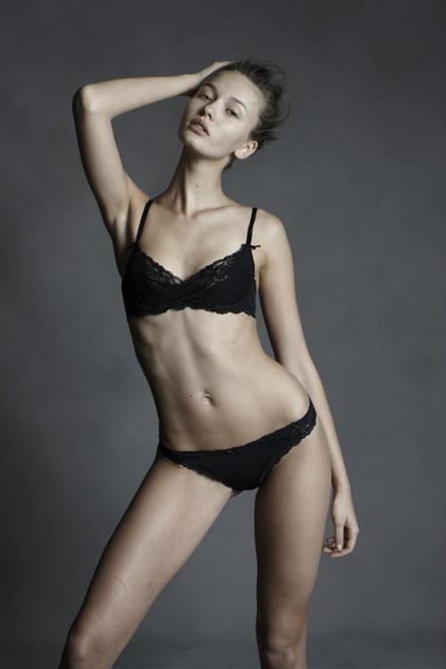 Kristina Romanova in lingerie