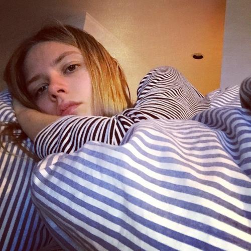 Caroline Brasch Nielsen taking a selfie
