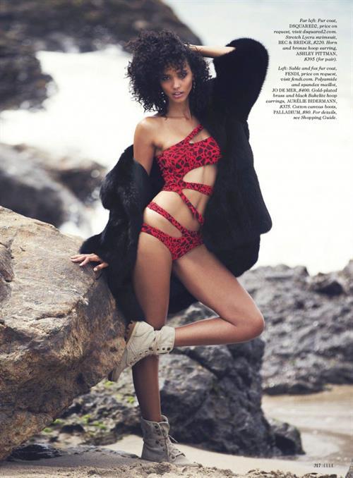 Cora Emmanuel in a bikini