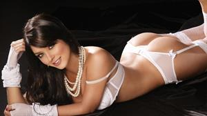 Mariana Davalos in awesome white lingerie