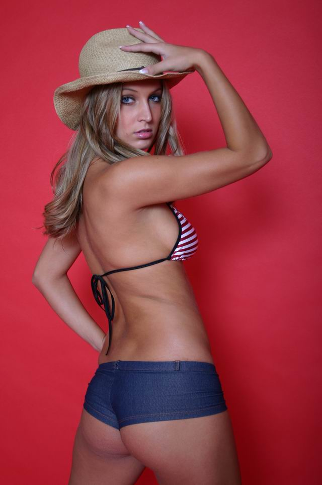 Traci Lavine in a bikini