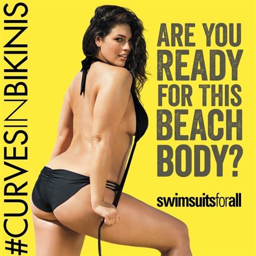 Ashley Graham in a bikini - ass