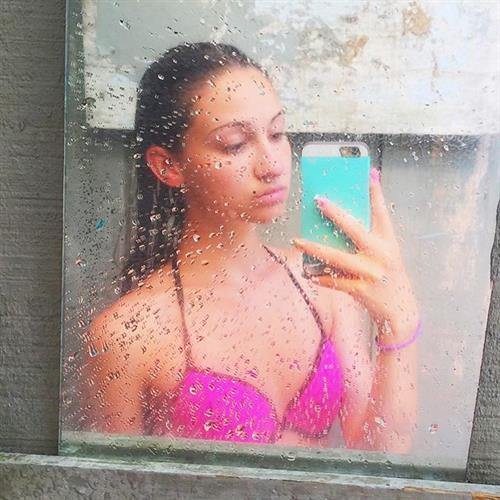 Christina Marie Harris in a bikini taking a selfie