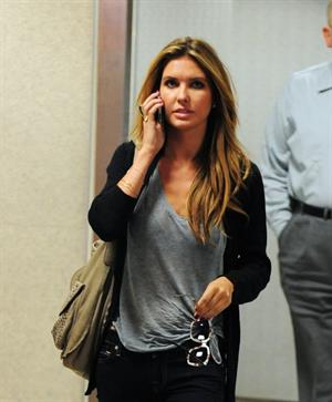 Audrina Patridge arrives into LAX Airport