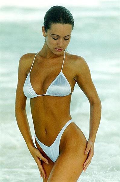 Joy Behrman in a bikini