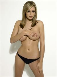 Keeley Hazell in a bikini