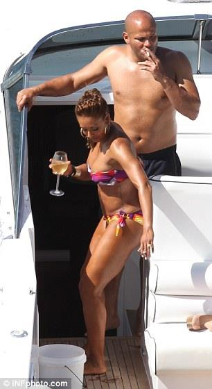 Melanie Brown (Scary Spice) in a bikini