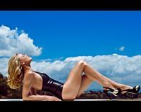 Yvonne Strahovski in a bikini