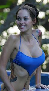 Jessica-Jane Clement in a bikini