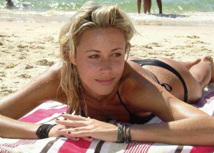 Gillian Zinser in a bikini