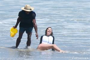 Miranda Kerr Beach Photo Shoot in LA July 2016
