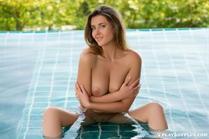 Playboy Cybergirl - Kailena Nude in a shallow pool for Playboy Plus!