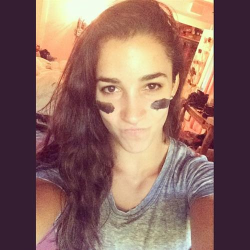 Aly Raisman taking a selfie