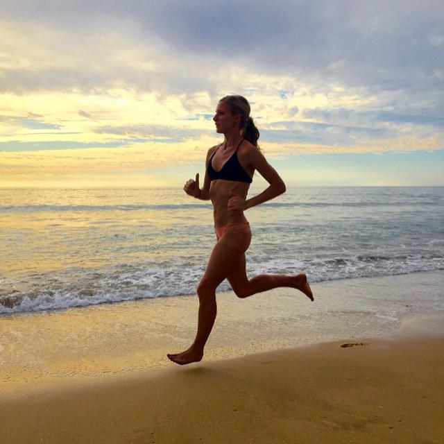 Emma Coburn in a bikini