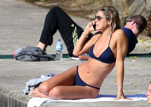 Ashley Hart in a bikini on Bondi Beach in Sydney - 8/15/16