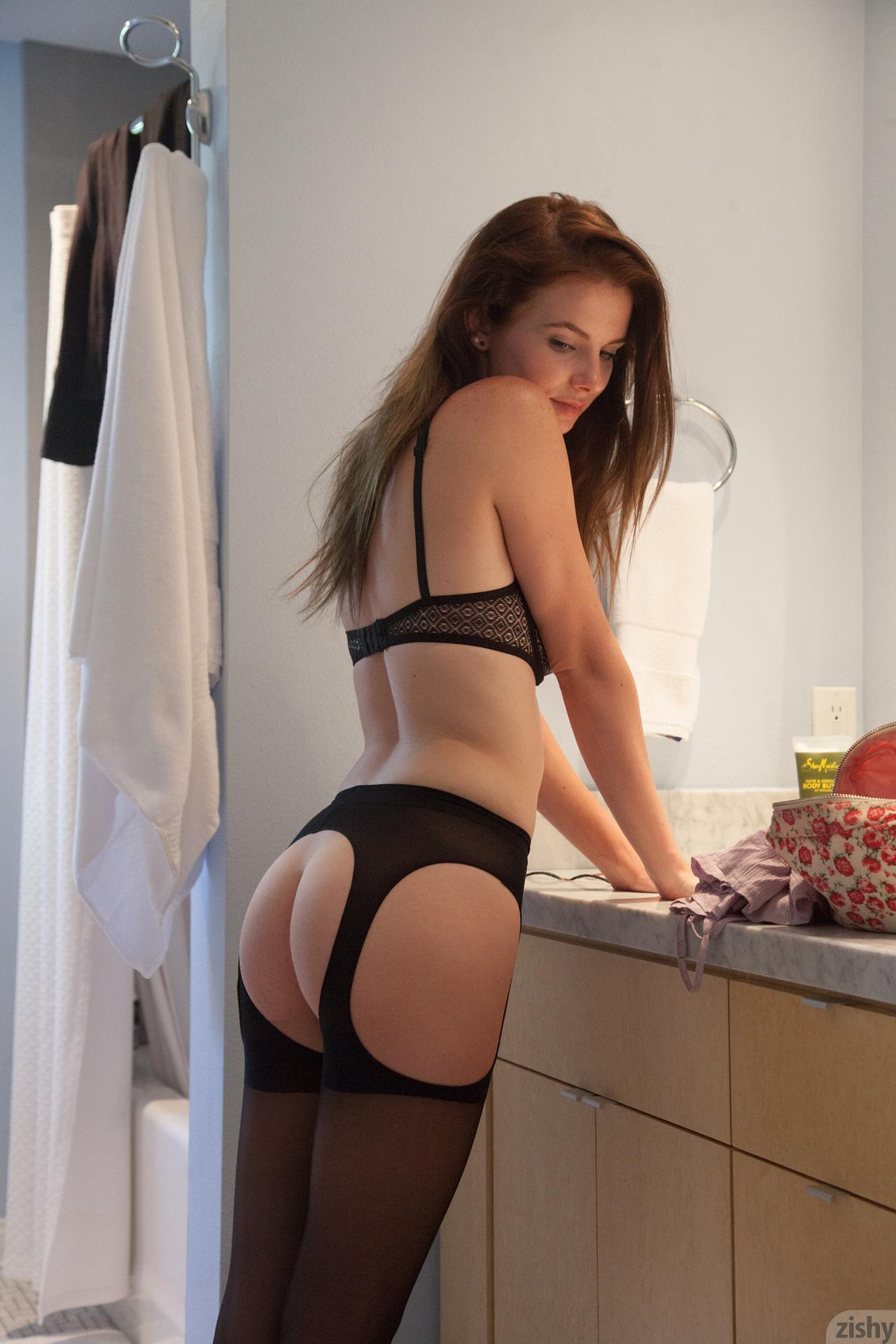 Essie Halladay in lingerie - ass