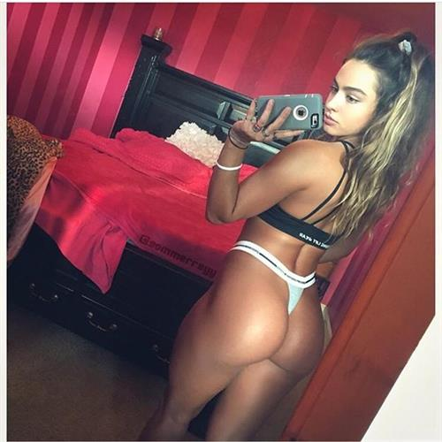 Sommer Ray taking a selfie and - ass