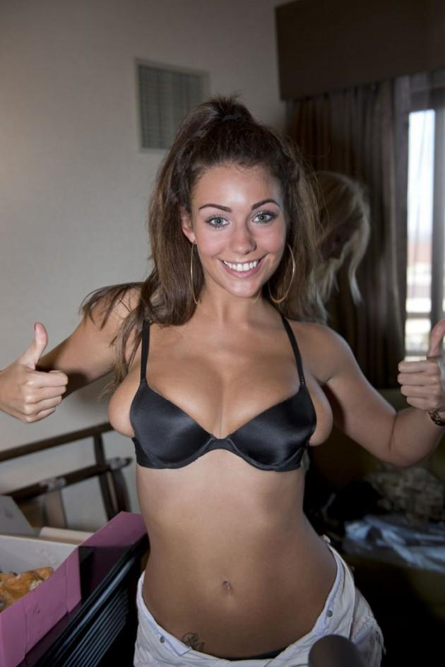 Holly Peers in lingerie