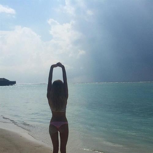 Nicola Hughes in a bikini