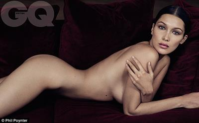 Bella Hadid posed completely nude for GQs new issue.