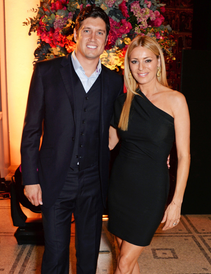 41-year-old TV host Vernon Kay with wife Tess Daly.