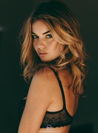 Annie Ericson in lingerie