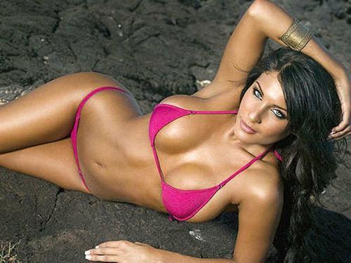 Natalie Charalambous in a bikini