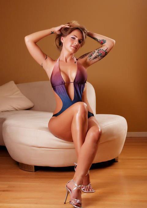 Julie Hanson Vetter in lingerie