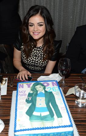 Lucy Hale NYLON celebrates Dec/Jan Cover Star Lucy Hale in Los Angeles 12/7/12