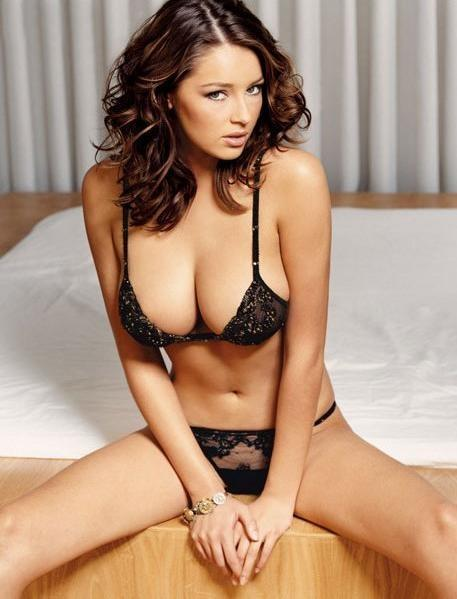Keeley Hazell in lingerie