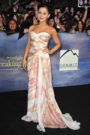Ariana Grande at the Breaking Dawn Part 2 premiere