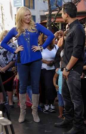 On  Extra  at The Grove in Los Angeles - January 5, 2012