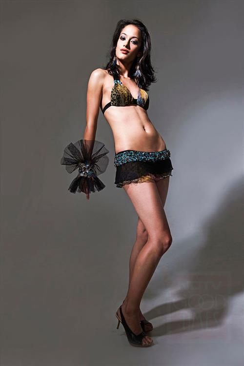 Angela Jonsson in a bikini