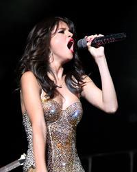 Selena Gomez performing at Bethel Woods Art Center in New York August 05, 2011