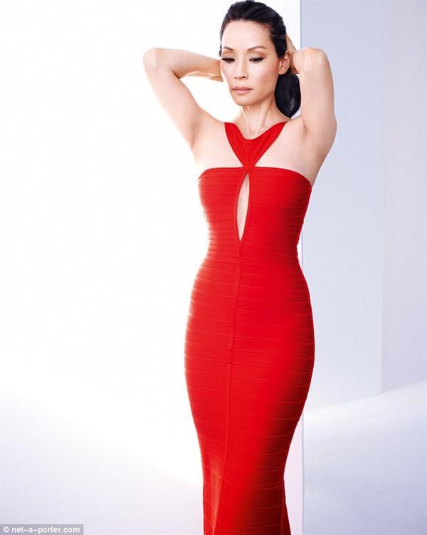 Lucy Liu in Bandage dress