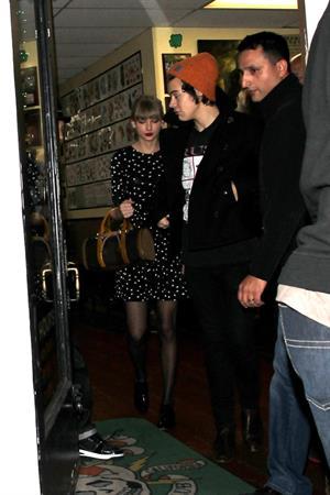 Taylor Swift - at Shamrock Tattoo 12/18/12