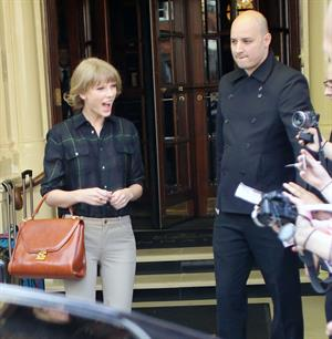 Taylor Swift leaving her hotel in London 10/6/12
