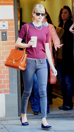 Taylor Swift out and about in London October 4, 2012