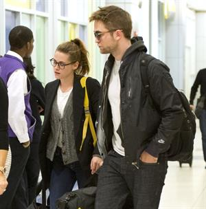Kristen Stewart at JFK Airport in New York City 11/23/12
