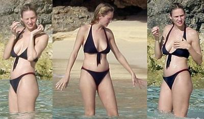 Uma Thurman in a bikini