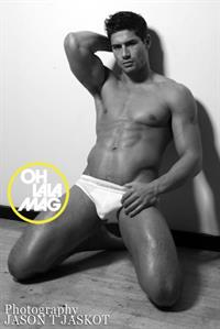 Joel Rush in lingerie