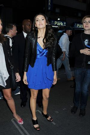 Nina Dobrev arriving at her hotel in New York City on May 5, 2010
