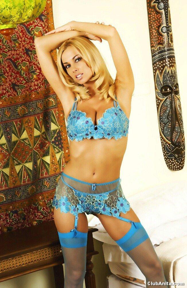 Anita Dark in lingerie