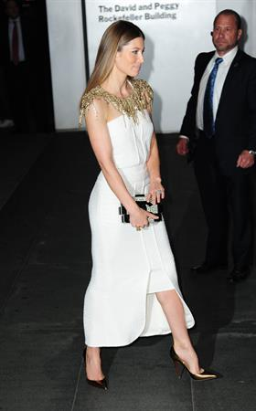 Jessica Biel Museum of Modern Art 2013 Film benefit: A Tribute To Tilda Swinton