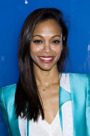 Zoe Saldana Prabal Gurung Fall 2012 Collection show February 11, 2012 in New York City
