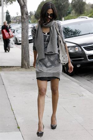 Zoe Saldana out & about in Los Angeles - March 5, 2010