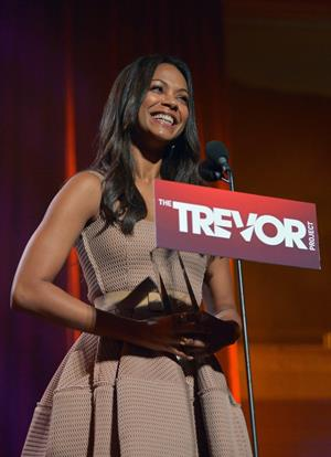 Zoe Saldana The Trevor Project's 2012 'Trevor Live' Event Honoring Katy Perry at Hollywood Palladium in Hollywoo