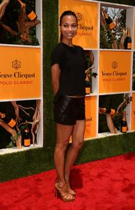 Zoe Saldana Fifth annual Veuve Clicquot Polo Classic in Jersey City - June 2, 2012