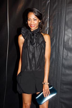 Zoe Saldana Louis Vuitton Collection during Paris Fashion Week October 7, 2009