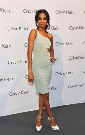 Zoe Saldana at The World Of Calvin Klein - Mercedes Benz Fashion Week Spring/Summer 2011 - July 7, 2010
